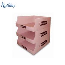 Caja de presentación del contador de la cartulina de 3 niveles, cajas de presentación contrarias de la cartulina de la plantilla