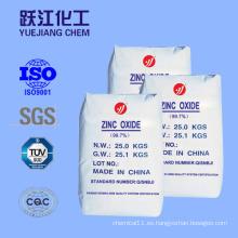 Cerámica y Esmalte Fabricación de Óxido de Zinc (99.5%)