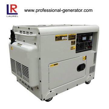 Gerador diesel silencioso de 5kw com fio de cobre monofásico AC
