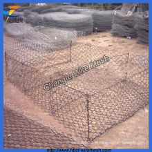 Zinco galvanizado de arame hexagonal Mesh Gabion Basket