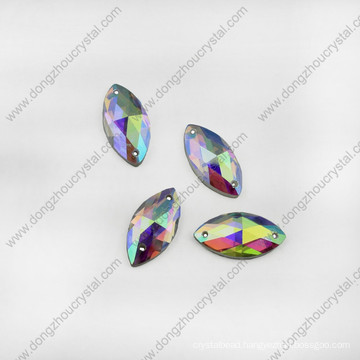 Navette Crystal Glass Jewelry Stones for Shoes Sewing