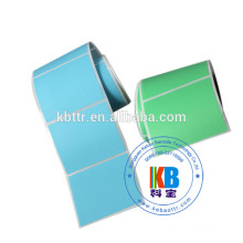 Coated paper white adhesive blank sticker roll