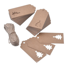 Custom Hang Tags Kraft Paper Tree Shape Gift Tags