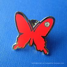 Personalizado borboleta suave esmalte Pin Metal emblema (GZHY-SE-030)