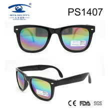 2017 Popular Fashion Design Plastic Sunglasses (PS1407)