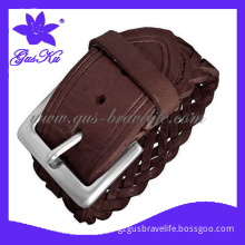 2014 Gus-Lb-075 Hot and Novel Leather Belt with Metal Accessories in Cool Style for Men or Stars