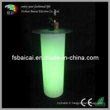 LED Plastic PE Bar Cocktail Table à vin