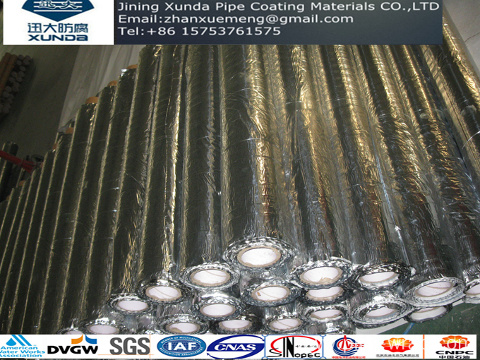 Aluminum foil bitumen adhesive tape for roof waterproofing