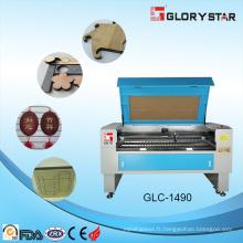 Glc-1290 80W en cuir, tissu, tissu Machine à gravure laser CNC