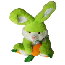 green color customized animal plush toy