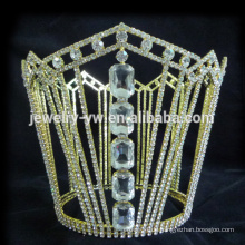 Völlig runde Kristall-Tiara-Krone