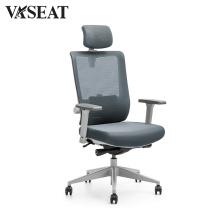 Bureau pivotant ergonomique exécutif maille et chaise en tissu
