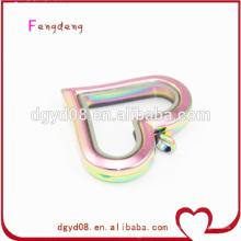 цвета радуги ожерелье кулон в форме сердца