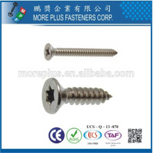Taiwán M2.6X16 Acero al carbono Placa de níquel Tornillo de cabeza avellanada Self Tapper Tornillo
