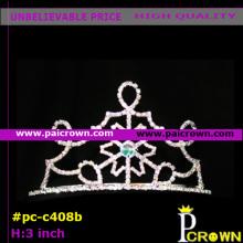 Small White Snowflake Christmas Pageant Tiara Crown