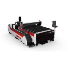 Máquina do laser da fibra do corte da placa e da tubulação de metal