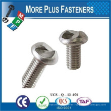 Made in Taiwan One way Pozi Drive Round Head Stainless Steel Plain Finish Security Screw