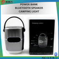 New camping power bank with bluetooth speaker and LED light