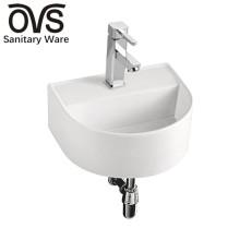 lavabo de cerámica del uso común fregadero colgado de la pared