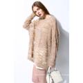 Mohair moda solto senhoras suéteres pullover sweater