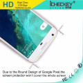El protector de cristal moderado transparente de alta calidad de la pantalla del borde 2.5D del borde competitivo de alta calidad para Google Pixel XL, acepta Paypal