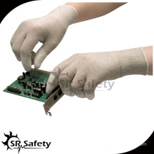 SRSAFETY PU gloves anti static PU on finger cheapest gloves