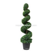 arbre topiaire en spirale en soie de buis