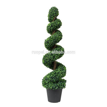 plastic boxwood silk spiral topiary tree