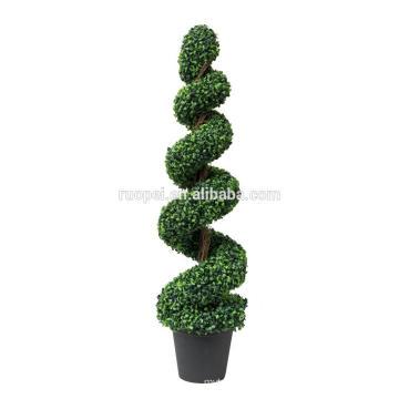 пластиковые самшита шелковый спираль топиарий дерево