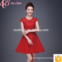 2017 Korean Fashion Knee Length Bridesmaid Sexy Red Mother Of The Bride Dresses For Fat