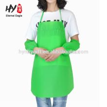 Cozinha de impressão logotipo personalizado cozinhar adultos não tecidos aventais para promoções