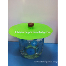 Non-toxic environmental silicon glass cup lids