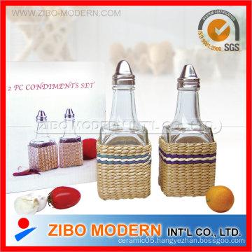 Grass Weaved Oil/Vinegar Bottle