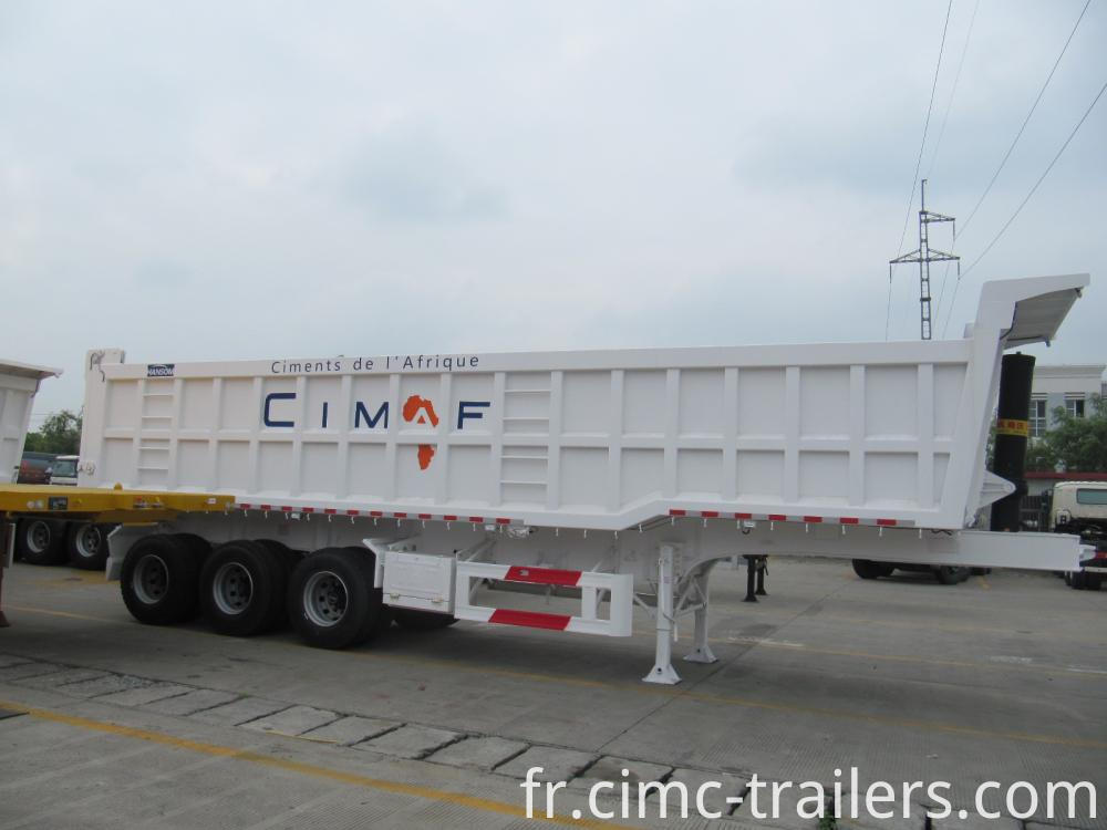 L Tri Axle Rear Tipper Semi Trailer