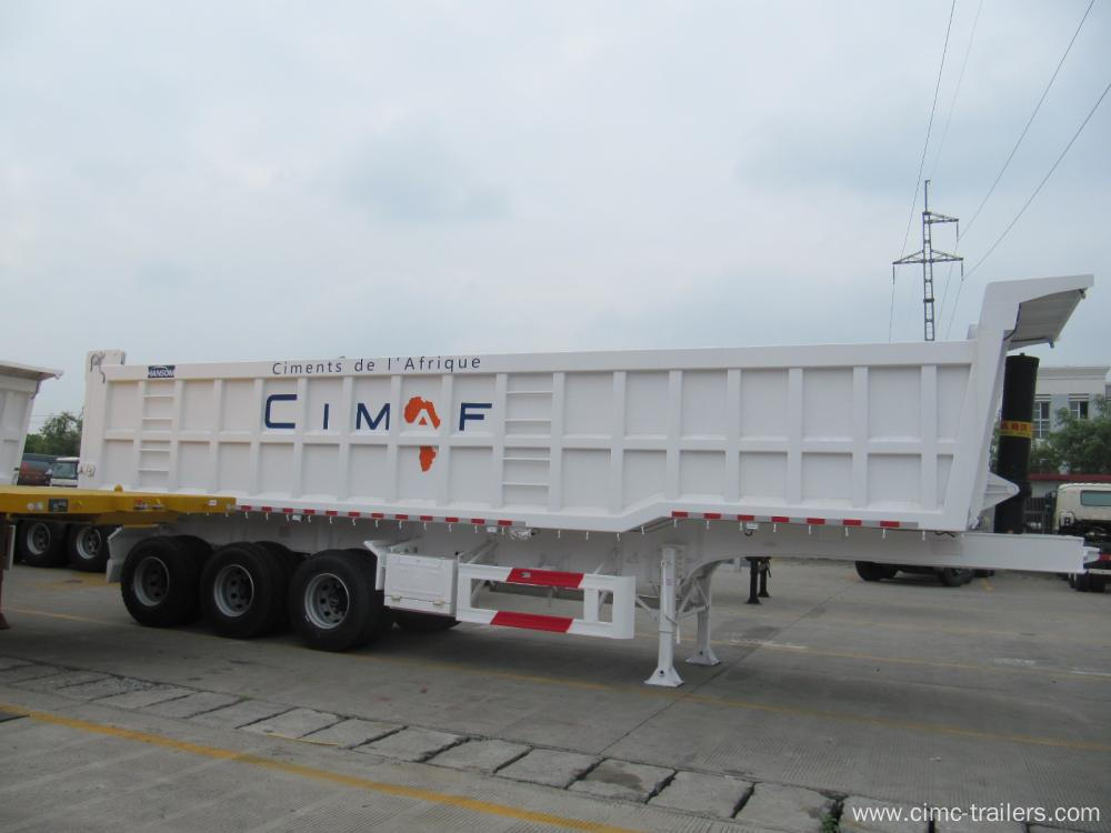 Tri-axle Rear Tipper Semi-Trailer