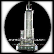 Magnifique modèle de bâtiment en cristal H038