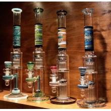 Bongs de vidrio de tubo de agua recto grande de alta gama