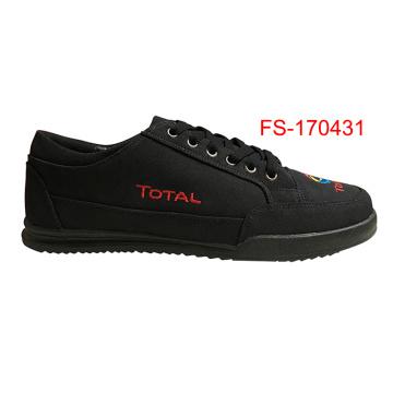 2017 zapatos de lona negros al por mayor Zapatillas de deporte de los hombres Zapatillas ocasionales de la lona negra