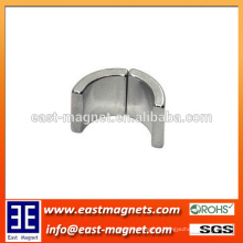 widely-used grade N42 Sintered neodymium arc magnet for sale/custom-made small segment ndfeb magnet for motor