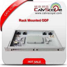 """Caja de distribución montada en rack de fibra óptica de alta calidad 1u / 19 """"/ ODF"""