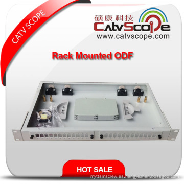 """Caja de distribución montada en rack de fibra óptica de 1u / 19 """"/ ODF"""