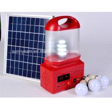 Linterna que acampa solar al aire libre recargable de 6W LED