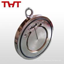 válvula de retención del volante de una placa de la oblea de no retorno para el agua