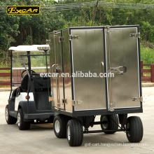 EXCAR 2 Seat electric golf cart club car 4 steel electric golf cart trailers trailer