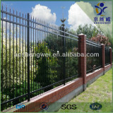 Hot dipped galvanized & Powder coated faux wrought iron fence