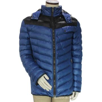 China Soem-Winter-windundurchlässiger windundurchlässiger aufgefüllter Kapuzenpulli gesteppte Freizeit-Winter-Jacken-Männer