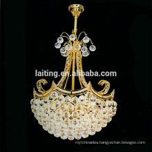 American Vintage Retro Pendant Lights Indoor Lighting Small Gold LED Crystal Chandelier