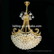 O pendente retro do vintage americano ilumina o candelabro de cristal pequeno do diodo emissor de luz do ouro da iluminação interna