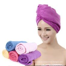 Novo design terry pano de microfibra cabelo toalha de secagem turbante toalhas envoltório