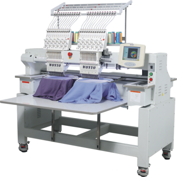 2 Head Tubular Computer Embroidery Machine for cap T Shirt Flat Cording Embroidery price